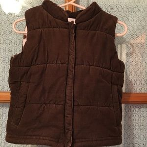 Chocolate Brown Corduroy Vest